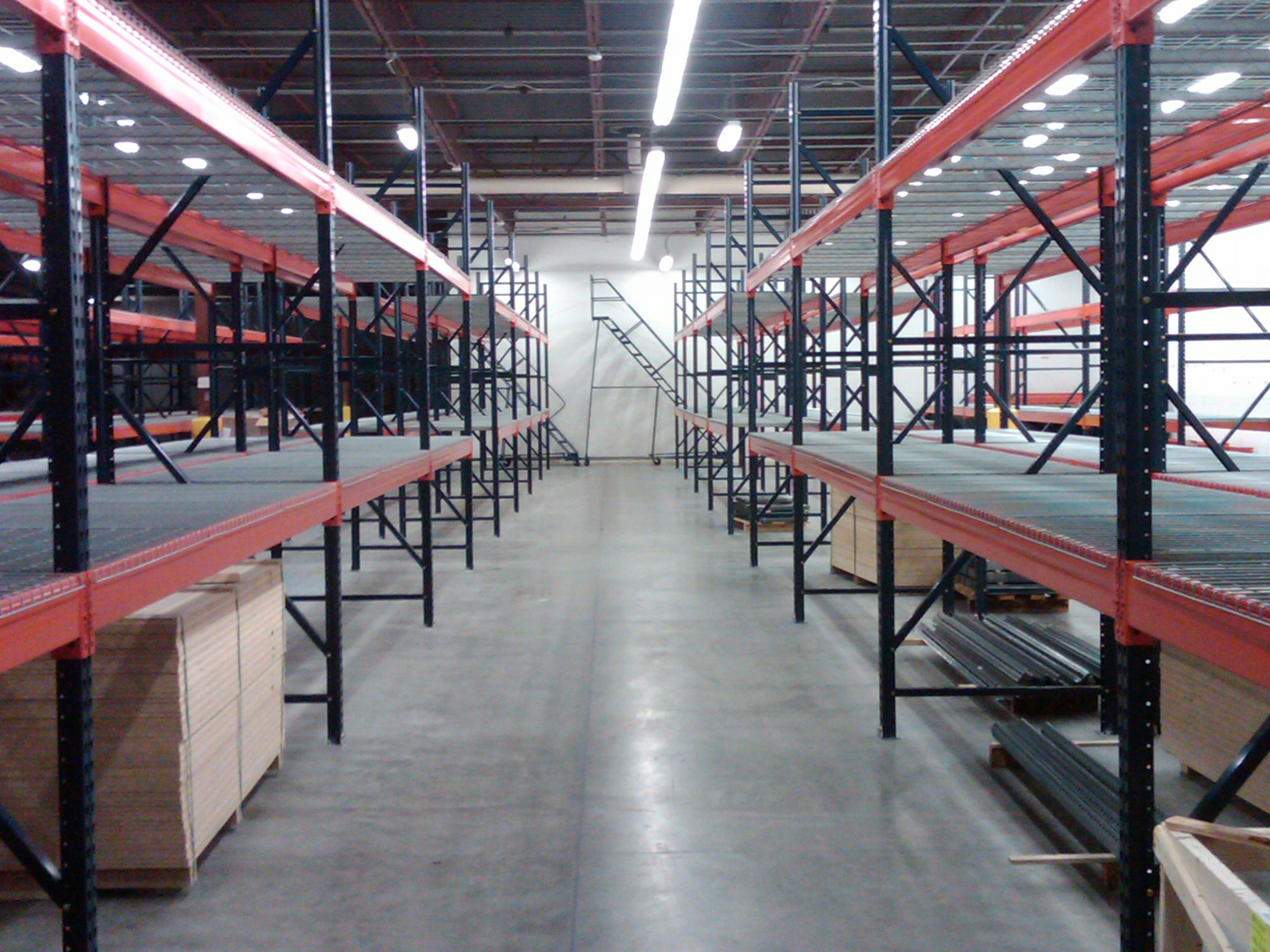 Pallet Rack Installation, Pallet Rack, Uprights, Beams, Wire Decks