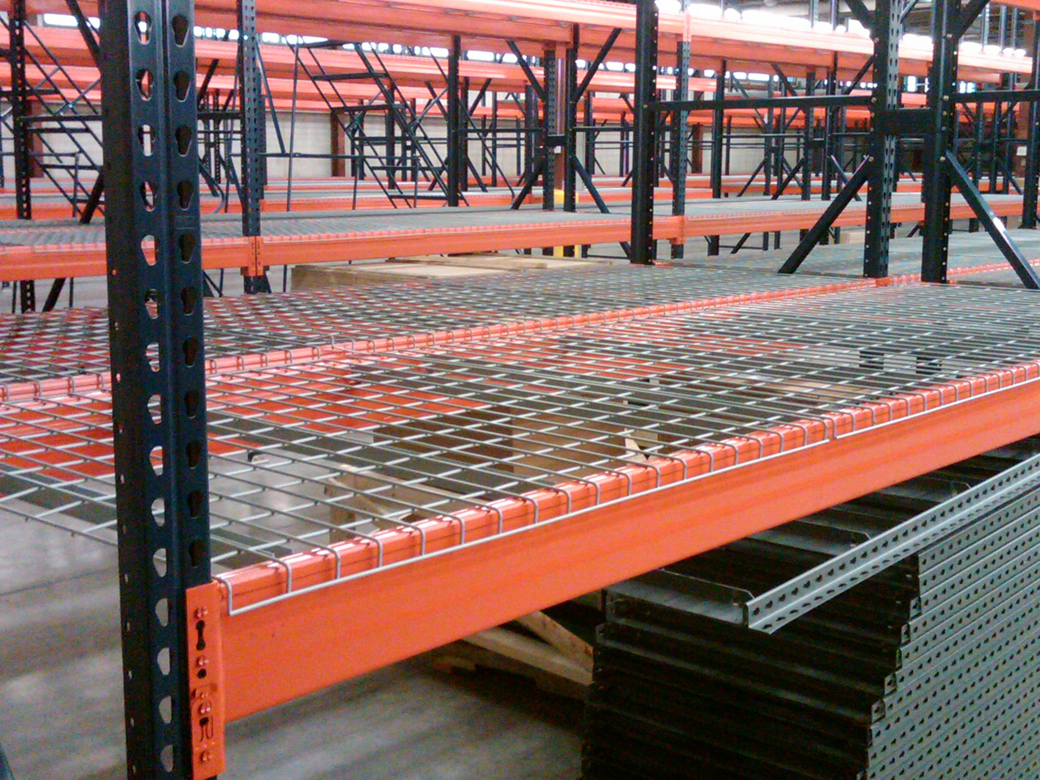 Pallet Rack And Wire Decking Charlotte Nc Teardrop Pallet
