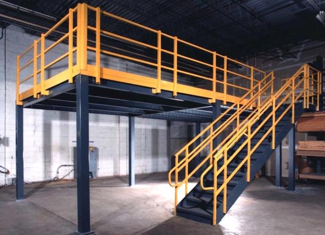 Pallet Rack Mezzanine : Pallet rack used mezzanine